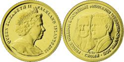 World Coins - Coin, Falkland Islands, William & Kate, 1/64 Crown, 2011, , Gold