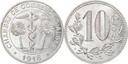 World Coins - Coin, Algeria, Chambre de Commerce, Alger, 10 Centimes, 1916, , Aluminium