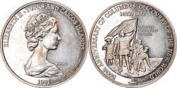 World Coins - Coin, TURKS & CAICOS ISLANDS, Elizabeth II, 20 Crowns, 1991, , Silver
