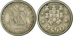 World Coins - Coin, Portugal, 2-1/2 Escudos, 1963, , Copper-nickel, KM:590