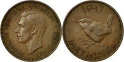 World Coins - Coin, Great Britain, George VI, Farthing, 1947, , Bronze, KM:843