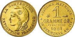 Ancient Coins - France, Medal, Révolution, 1 Gramme d'or Germinal, History, 1981,