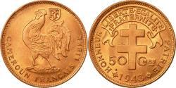 World Coins - Coin, Cameroon, 50 Centimes, 1943, Pretoria, , Bronze, KM:6