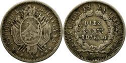 World Coins - Coin, Bolivia, 10 Centavos, 1872, , Silver, KM:153.3