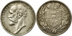 World Coins - Coin, Liechtenstein, Prince John II, 1/2 Frank, 1924, , Silver, KM:7