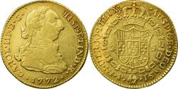 World Coins - Coin, Colombia, Charles III, 2 Escudos, 1772, Popayan, , Gold, KM:49.2