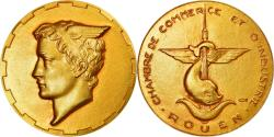 World Coins - France, Token, Chambre de Commerce de Rouen, Coeffin, , Gold
