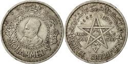 World Coins - Coin, Morocco, Mohammed V, 500 Francs, 1956, Paris, EF(40-45), Silver, KM:54