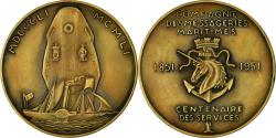 World Coins - France, Medal, Compagnie des Messageries Maritimes, Shipping, 1951, Lavrillier