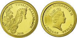 Ancient Coins - TUVALU, Dollar, 2010, CIT, KM #114, , Gold, 11, 0.50