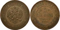 World Coins - Coin, Russia, Nicholas II, 5 Kopeks, 1911, Saint-Petersburg, , Copper