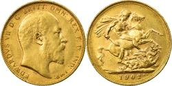 World Coins - Coin, Australia, Edward VII, Sovereign, 1902, Melbourne, , Gold, KM:15