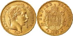 Ancient Coins - Coin, France, Napoleon III, 20 Francs, 1867, Paris, , KM 801.1