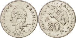 World Coins - New Caledonia, 20 Francs, 1983, Paris, , Nickel, KM:12