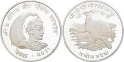 Ancient Coins - Coin, Nepal, SHAH DYNASTY, Birendra Bir Bikram, 25 Rupee, 1974, Proof