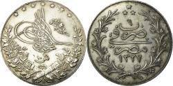 World Coins - Coin, Egypt, Muhammad V, 10 Qirsh, 1913/AH1327, Heaton, , Silver