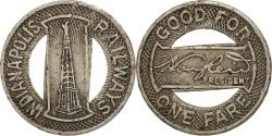Us Coins - United States, Indianapolis Railways, Token