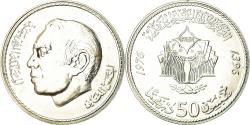 World Coins - Coin, Morocco, al-Hassan II, 50 Dirhams, 1975, , Silver, KM:65
