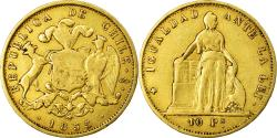 World Coins - Coin, Chile, 10 Pesos, 1855, Santiago, , Gold, KM:131