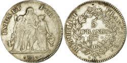 World Coins - Coin, France, Union et Force, 5 Francs, AN 7, Bordeaux, , Silver