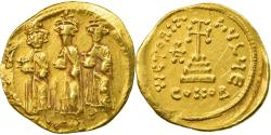 Coin, Heraclius, Solidus, 639-641, Constantinople, EF(40-45), Gold