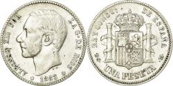 World Coins - Coin, Spain, Alfonso XII, Peseta, 1883, Madrid, , Silver, KM:686
