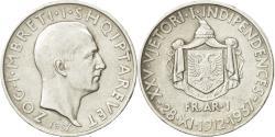World Coins - Albania, Zog I, Frang Ar, 1937, Rome, , Silver, KM:18