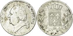 World Coins - Coin, France, Louis XVIII, 5 Francs, 1816, Bayonne, , Silver, KM:711.8