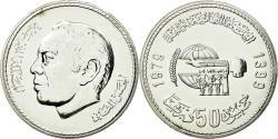 World Coins - Coin, Morocco, al-Hassan II, 50 Dirhams, 1979, , Silver, KM:70