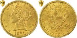 Us Coins - Coin, United States, Coronet Head, $5, Half Eagle, 1891, U.S. Mint, Carson City