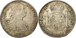 World Coins - Coin, Mexico, Charles IV, 8 Reales, 1804, Mexico City, , Silver, KM:109
