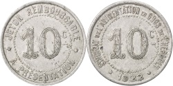 World Coins - France, 10 Centimes, 1922, , Aluminium, Elie #20.2, 1.02