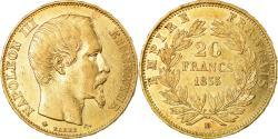 World Coins - Coin, France, Napoleon III, Napoléon III, 20 Francs, 1855, Strasbourg