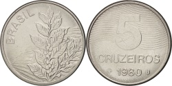 World Coins - Brazil, 5 Cruzeiros, 1980, , Stainless Steel, KM:591