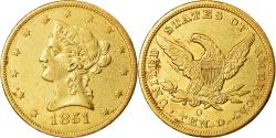 Us Coins - Coin, United States, Coronet Head, $10, 1851, New Orleans,