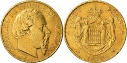 Ancient Coins - Coin, Monaco, Charles III, 20 Francs, Vingt, 1878, Paris, , Gold, KM:98