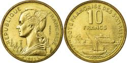 World Coins - Coin, French Somaliland, 10 Francs, 1965, Paris, MS(65-70), Aluminum-Bronze