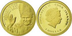World Coins - Coin, Cook Islands, Dollar, 2013, Pope Benedict XVI, , Gold