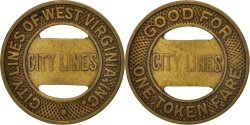 Us Coins - United States, Token, City Lines of West Virginia Incorporated