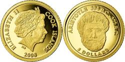 World Coins - Coin, Cook Islands, Aristotle, 5 Dollars, 2008, , Gold