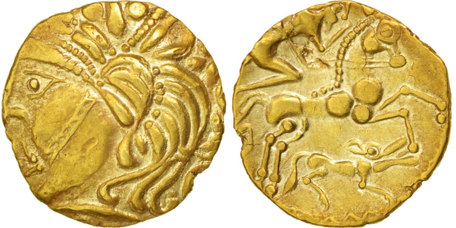 Ancient Coins - Aulerci Eburovices, 1/4 Stater, , Gold, Delestrée:manque.