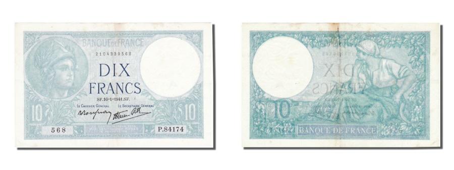 World Coins - France, 10 Francs, 10 F 1916-1942 ''Minerve'', 1941, KM #84, 1941-01-16,...