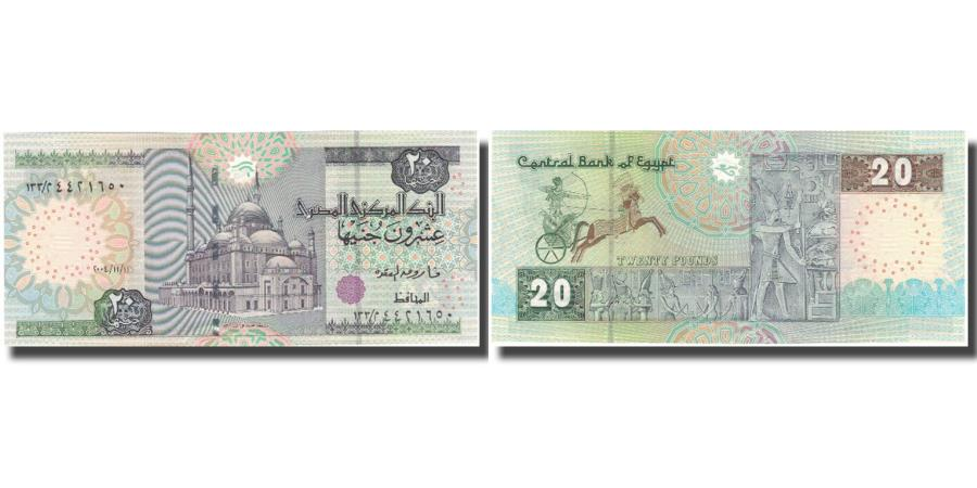 World Coins - Banknote, Egypt, 20 Pounds, KM:52c, UNC(64)