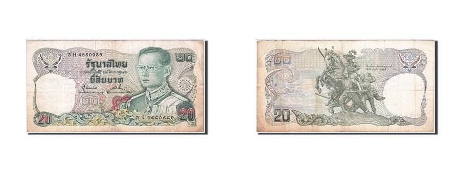 World Coins - Thailand, 20 Baht, 1981, KM #88, F(12-15), 3 H 4580986