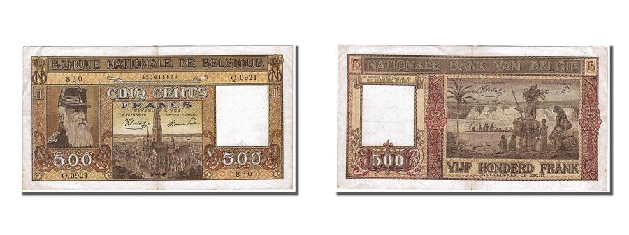 World Coins - Belgium, 500 Francs, 1945, KM #127a, 1945-03-26, UNC(60-62), Q