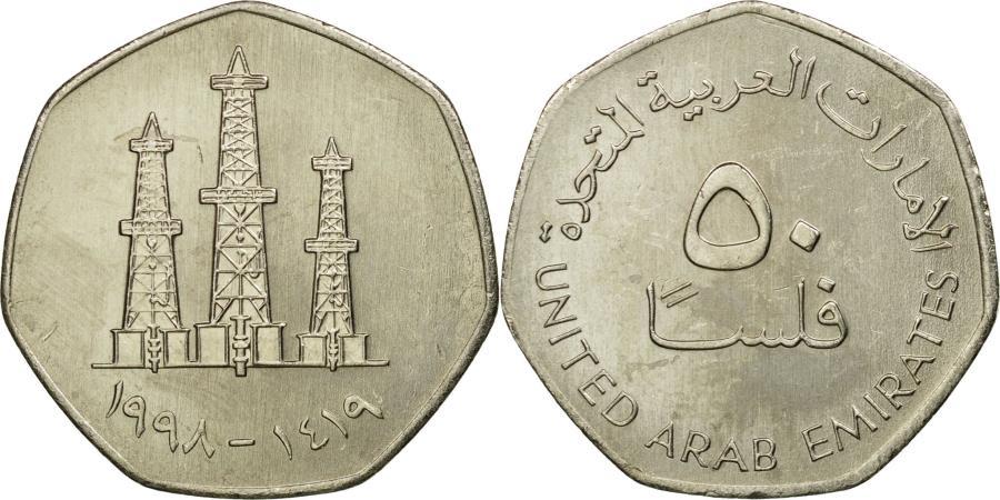 Coin, United Arab Emirates, 50 Fils, 1998, British Royal Mint,