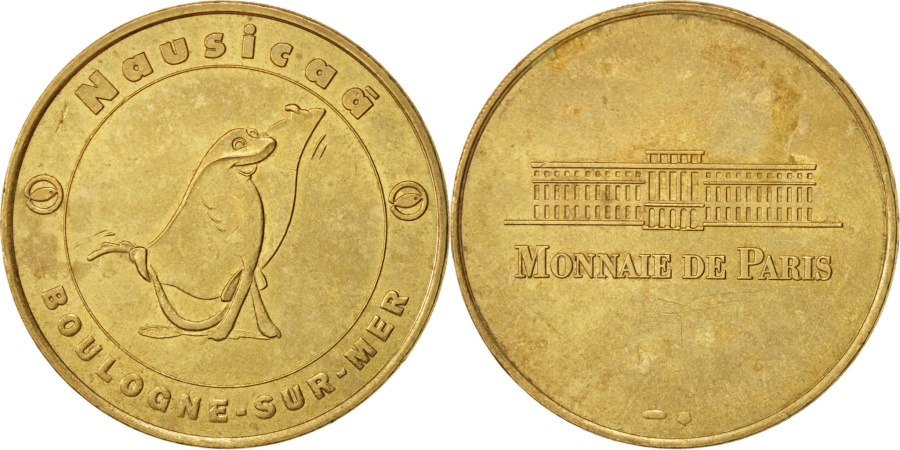 World Coins - France, Touristic token, 62/ Nausicaà - La Raie Raja, 1998, Monnaie de Paris