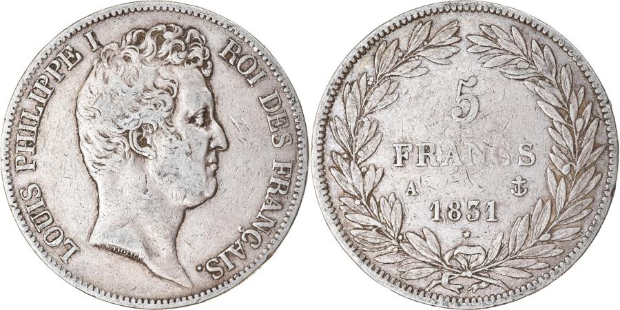 World Coins - Coin, France, Louis-Philippe, 5 Francs, 1831, Paris, , Silver
