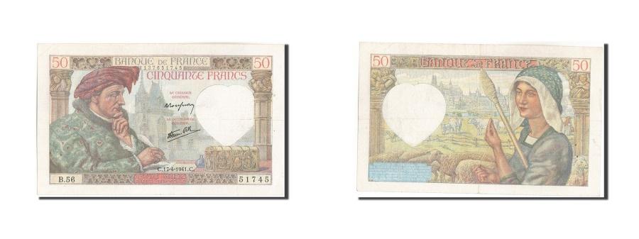 World Coins - France, 50 Francs, 50 F 1940-1942 ''Jacques Coeur'', 1941, KM:93, 1941-04-17,...