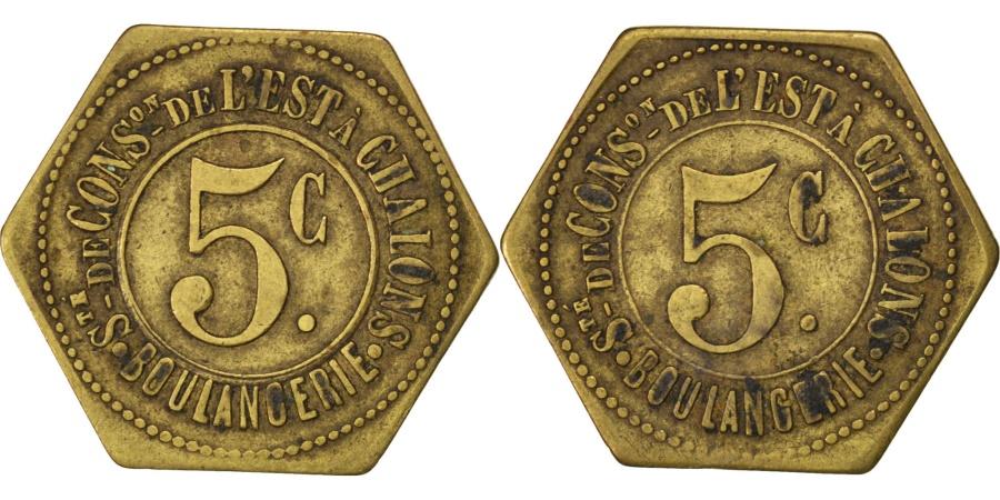 World Coins - France, 5 Centimes, , Brass, Elie #30.3, 2.50